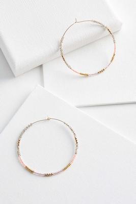 slider bead hoop earrings