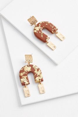 clay chandelier earrings