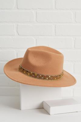 polished stone panama hat