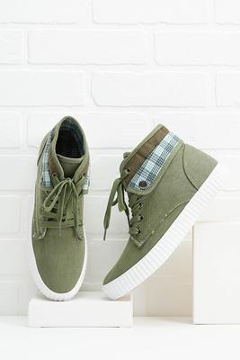 plaidly in love sneakers