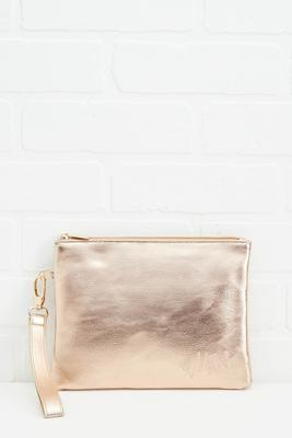 mrs embossed wristlet pouch