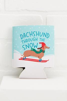 dachshund through the snow koozie
