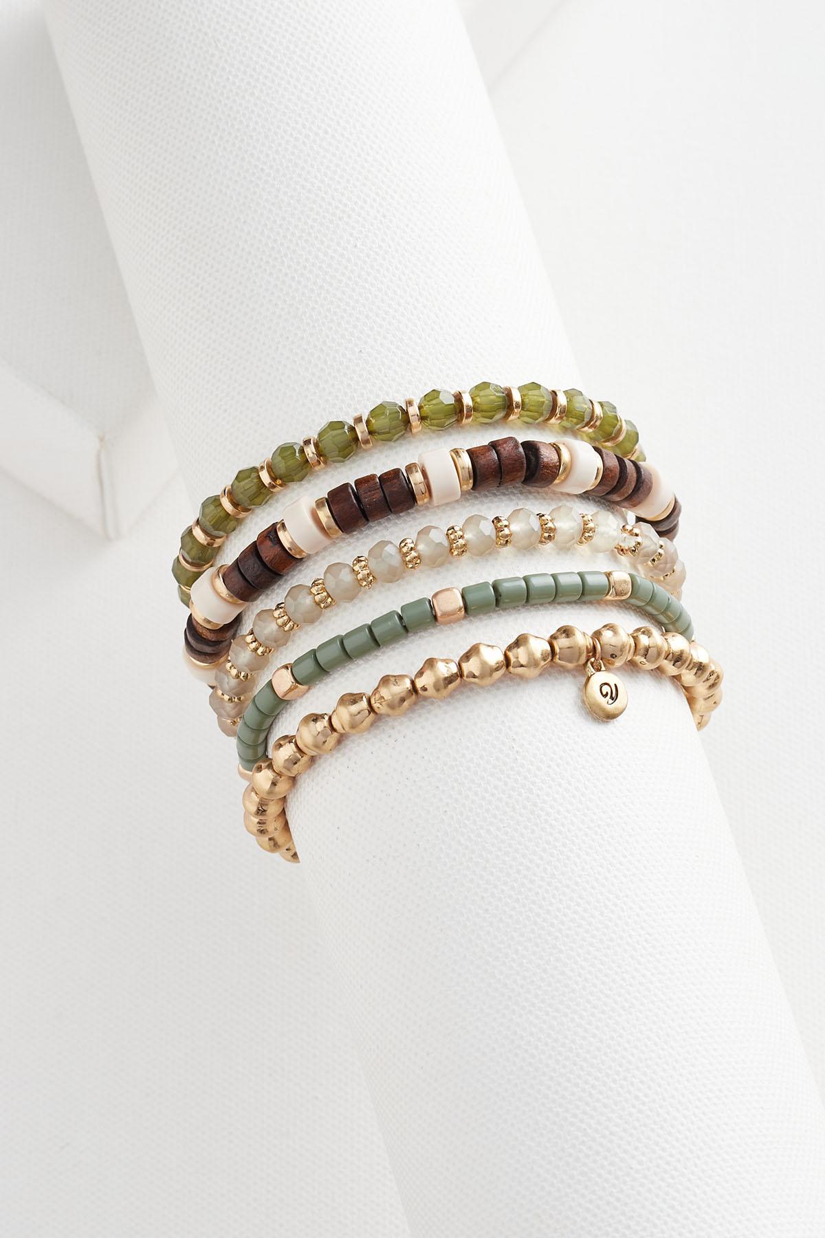Earthy Beaded Bracelet Set