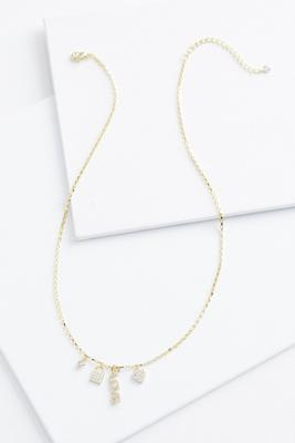 18k love necklace