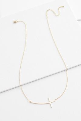 18k cross necklace