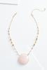 Stone Pendant Short Necklace