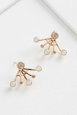 bling web earrings