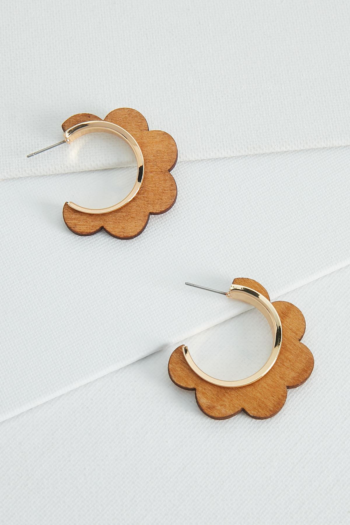 Seventies Wooden Hoop Earrings
