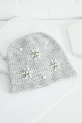 pearl embellished beanie