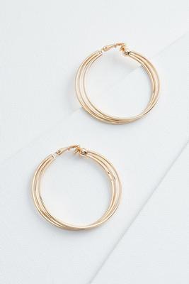 layered hoop clip on earrings