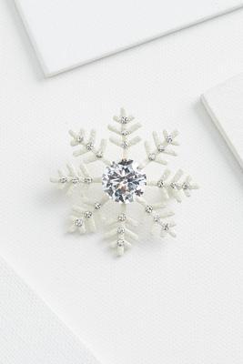 sparkly snowflake brooch