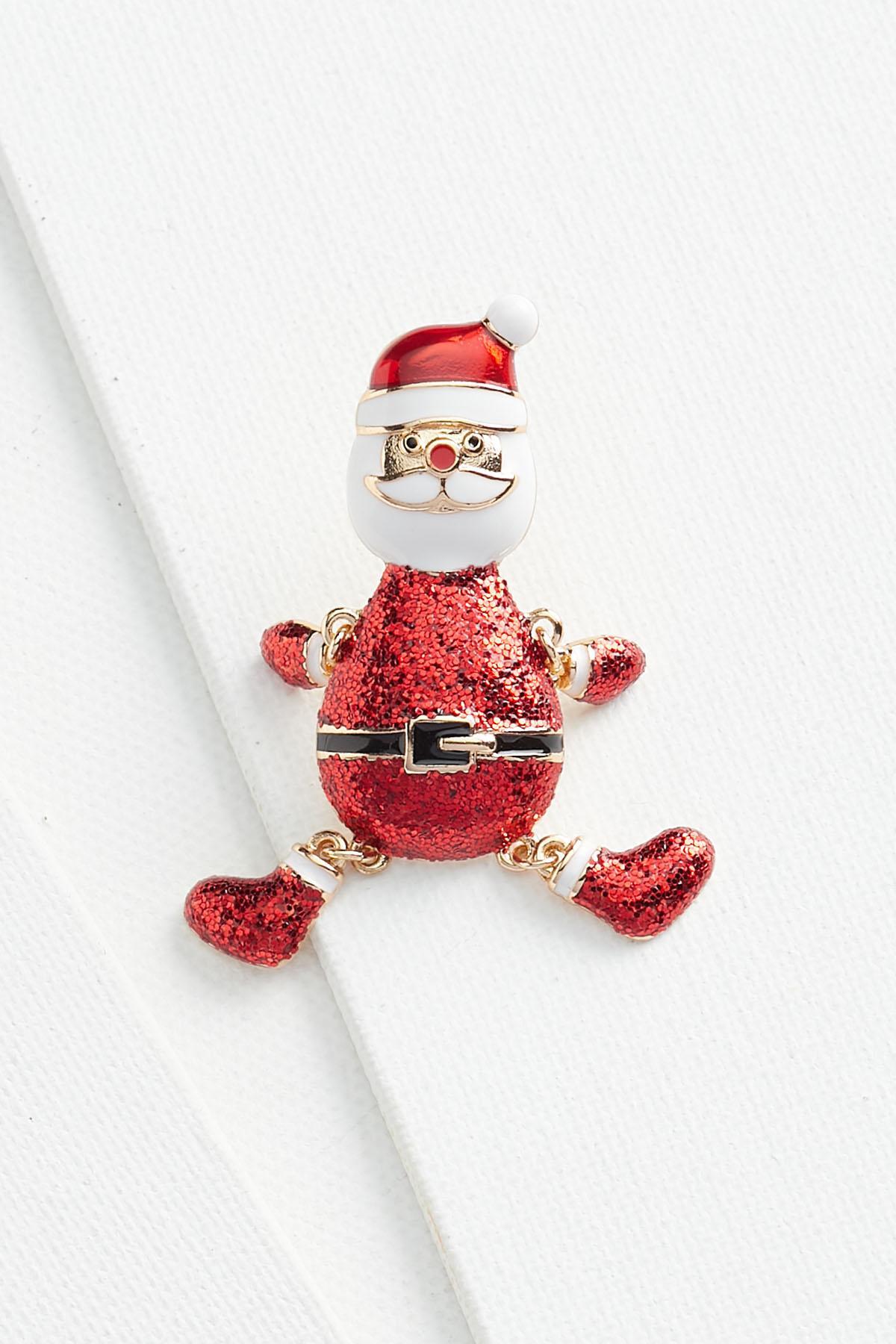 Shaky Santa Brooch