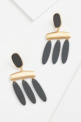 trendy geo earrings