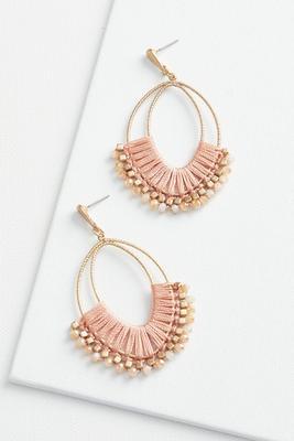 thread wrap bling earrings