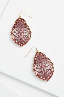 cutout filigree earrings