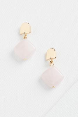 geo quartz earrings