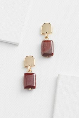 retro rectangle earrings