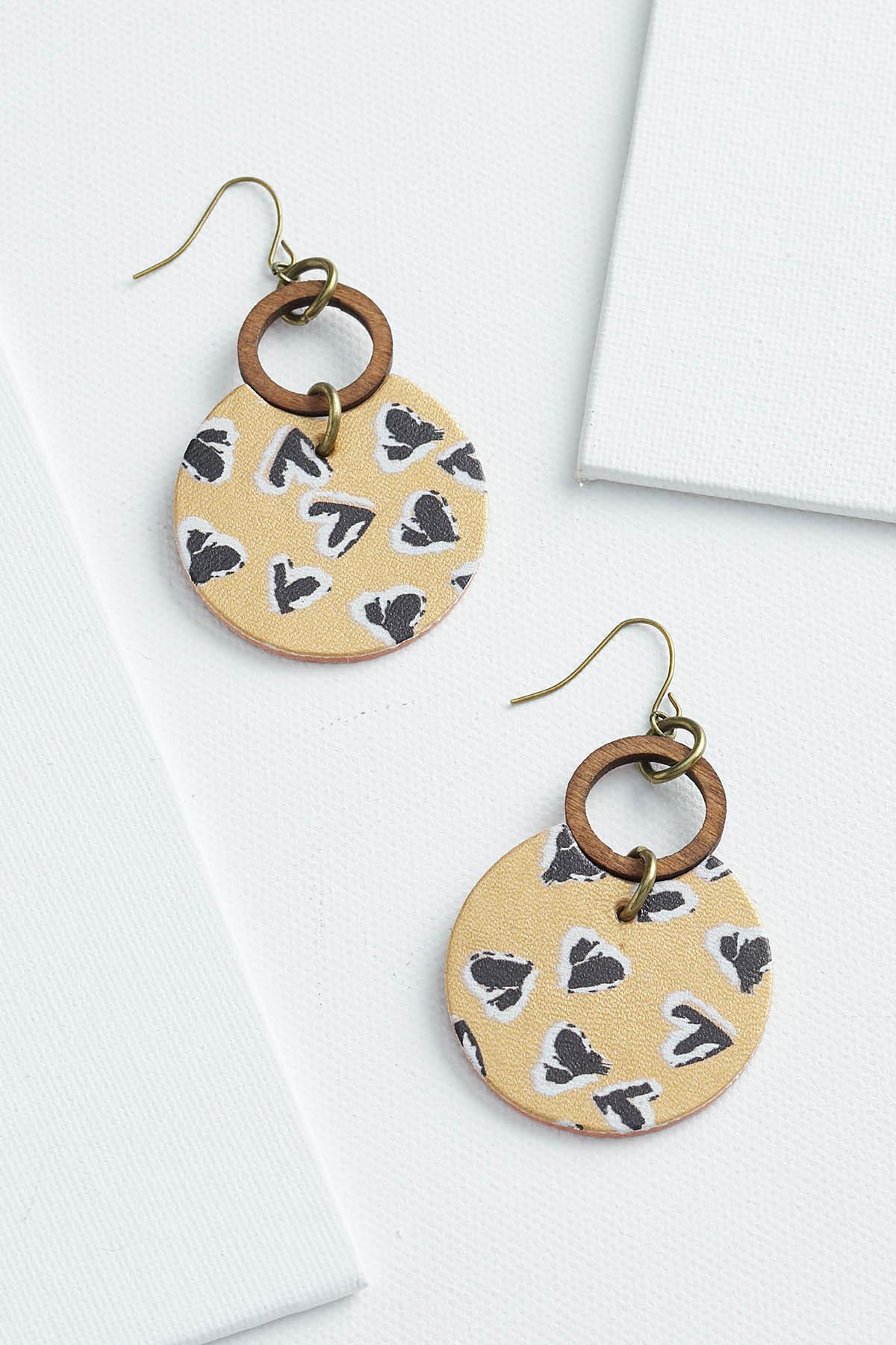 Heart Printed Earrings