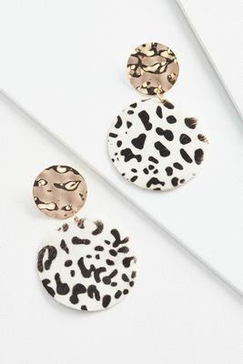 leopard metal earrings