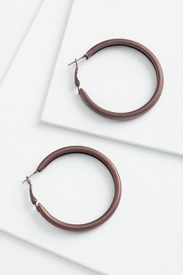 matte metal earrings