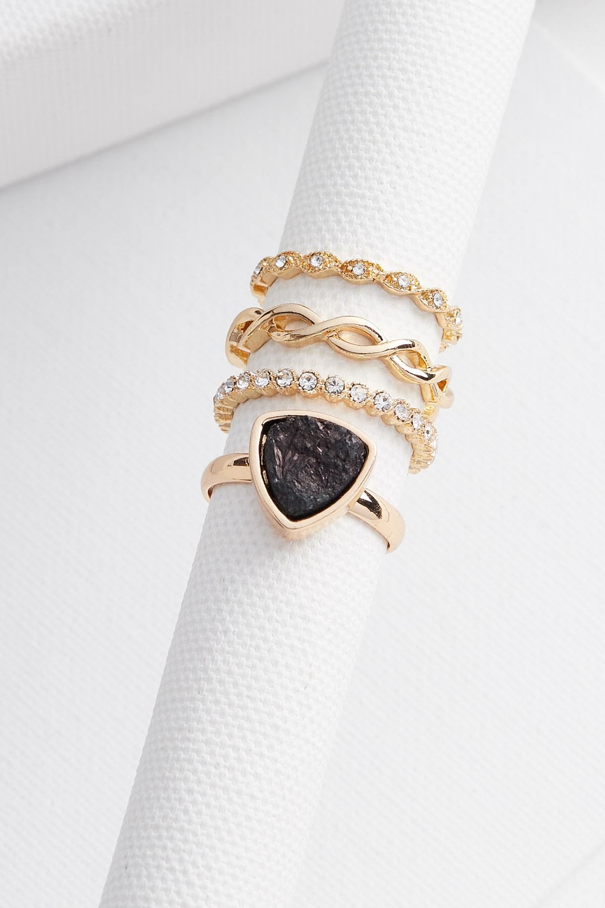 Gemstone Ring Set