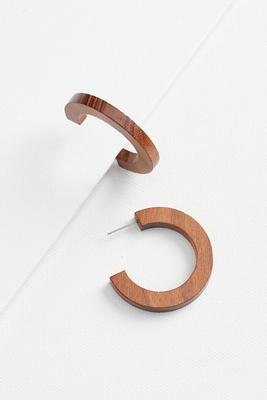 wide wooden earrings