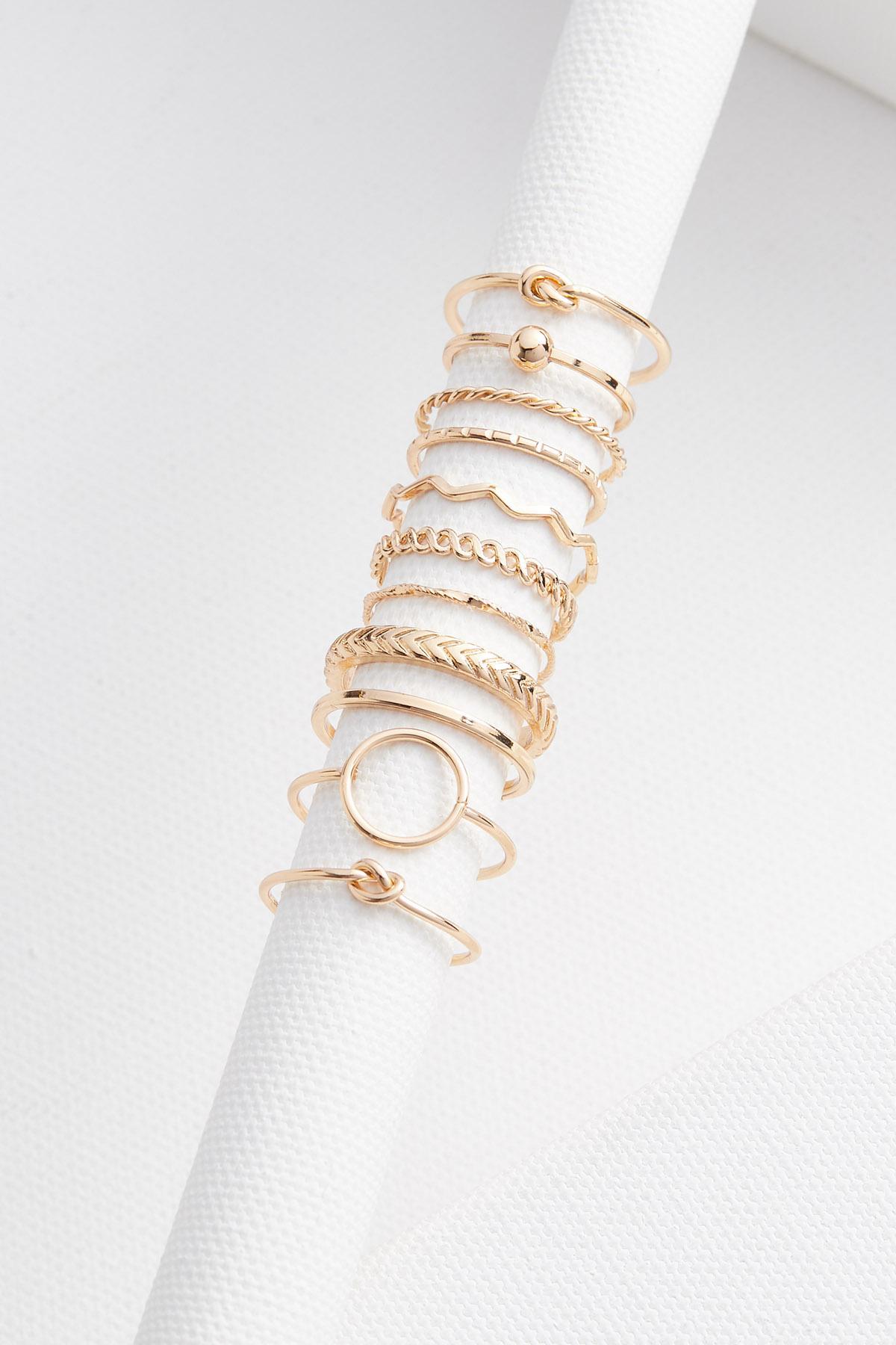 Gold Multi Ring Set