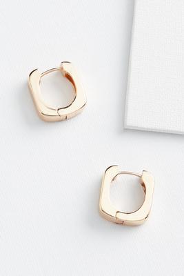 chunky metal earrings