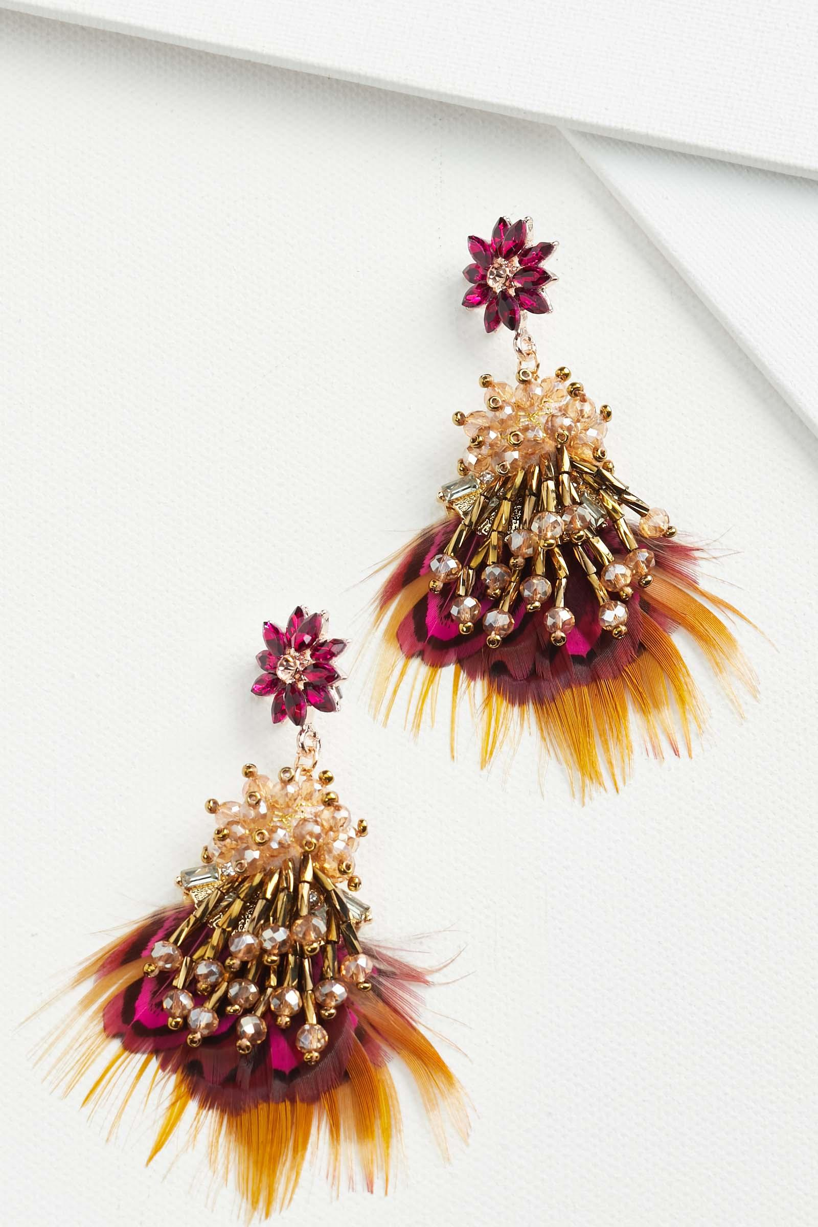 Fall Feather Earrings