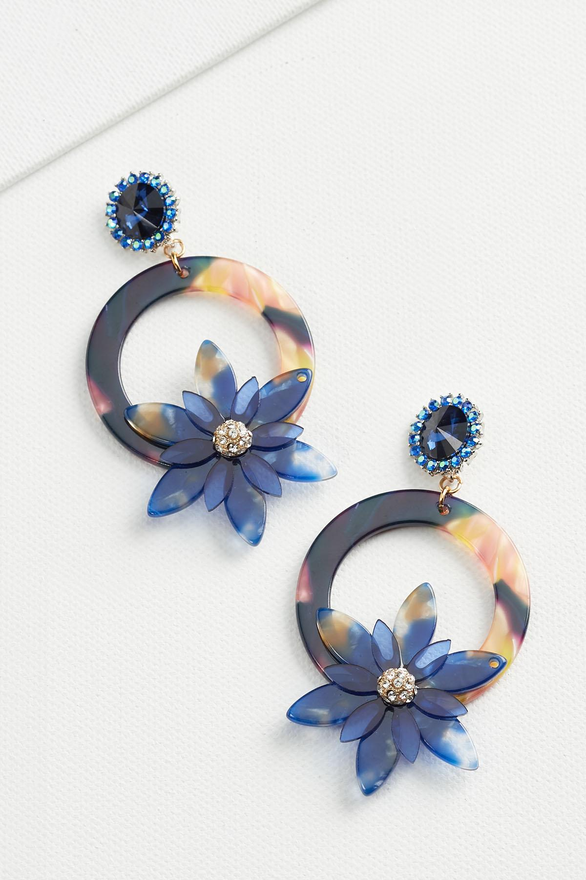 Floral Lucite Earrings