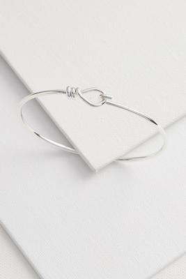 fine silver plated bangle bracelet