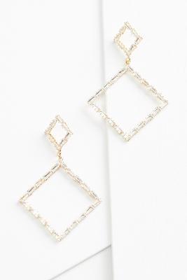 tiered diamond earrings