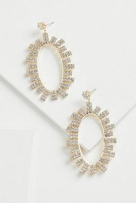 rhinestone burst earrings