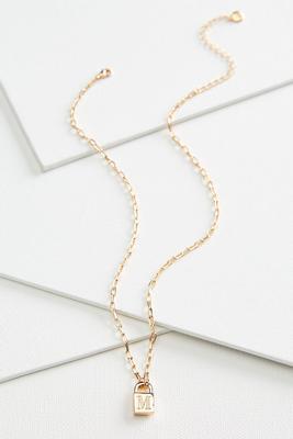 m locket pendant necklace