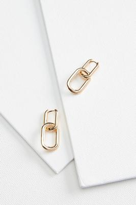 chained gold earrings