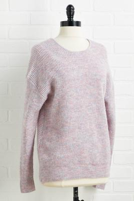 mauve to the side sweater