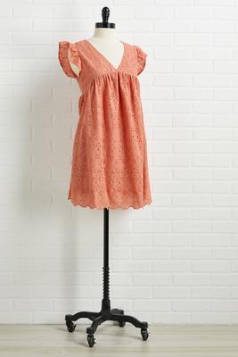fall flutters dress