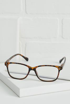 milky tort blue light reader glasses
