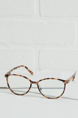 tortoise shell blue light reader glasses