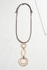 Cord Disc Pendant Necklace