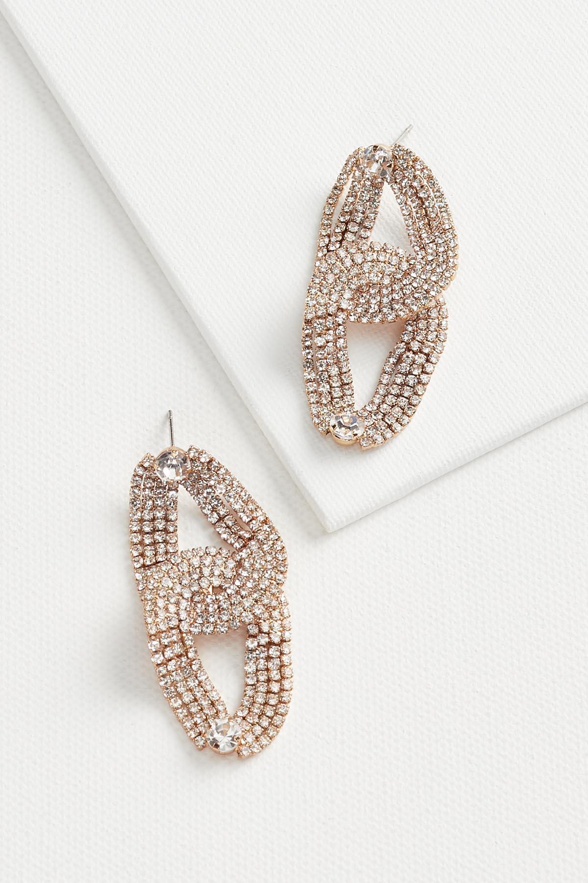 Rhinestone Link Earrings