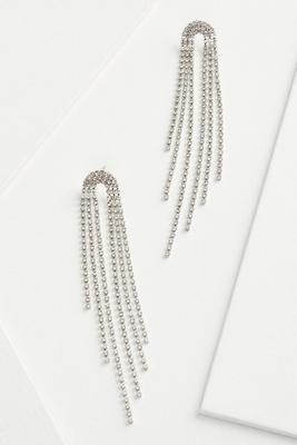 rainfall rhinestone earrings