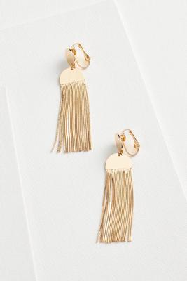 fringe clip on earrings