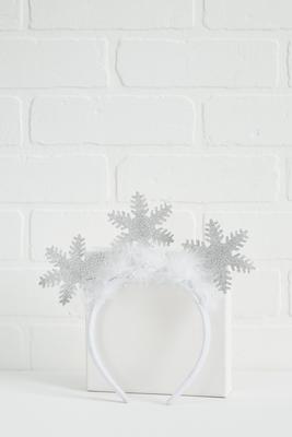 let it snow sparkly headband