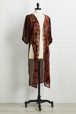 fall florals kimono