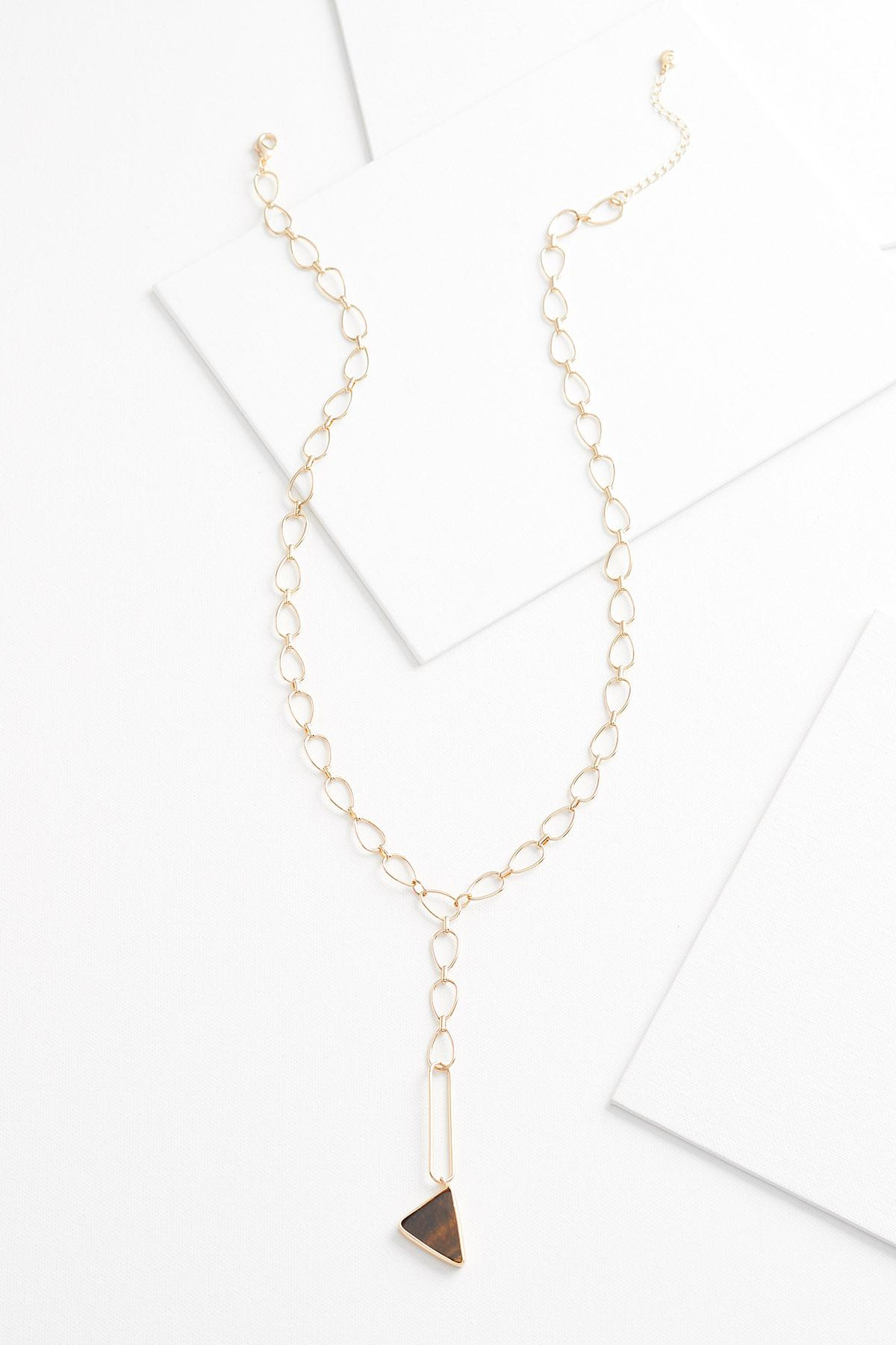 Stone Link Pendant Necklace