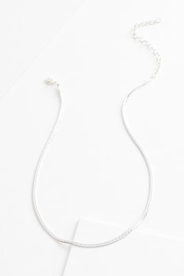 dainty fine silver plated necklace