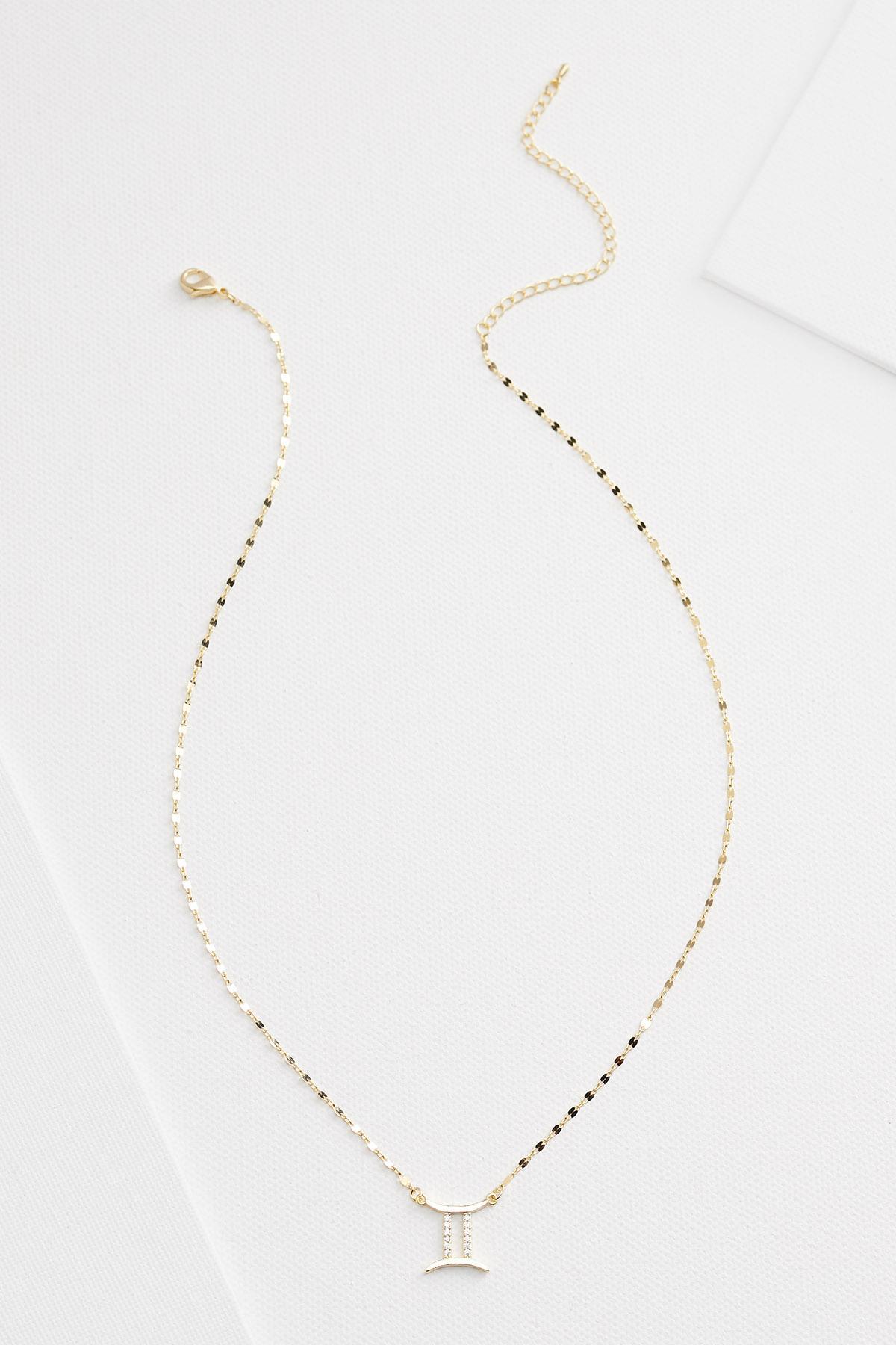 18k Gemini Necklace