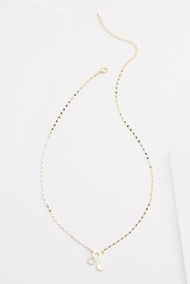 18k leo necklace