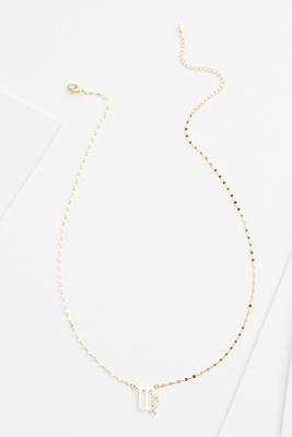 18k virgo necklace